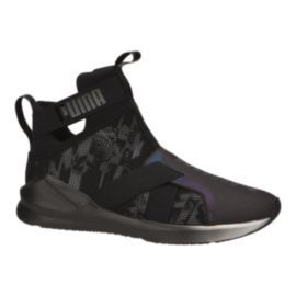 Puma Women's Fierce Strap Swan Shoes - Black