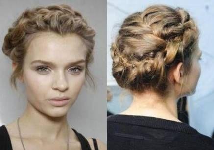Super wedding hairstyles curly hair crown braids Ideas