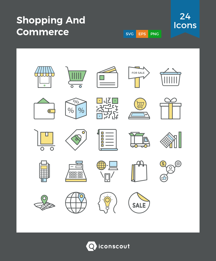 Download Shopping And Commerce Icon Pack Available In Svg Png Eps Ai Icon Fonts Icon Pack Icon Font Icon