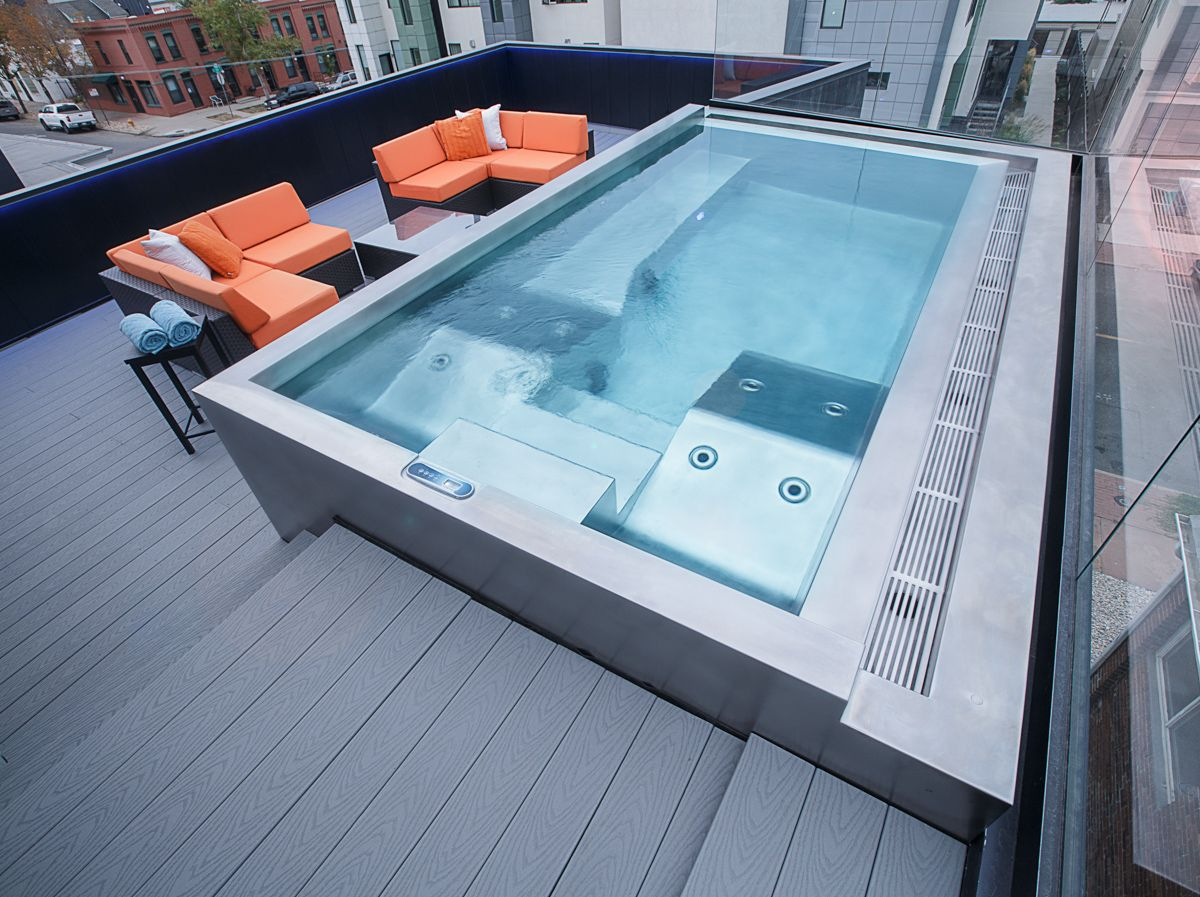 Stainless Steel Rooftop Spa | Spas | Pinterest | Rooftop, Spa and ...