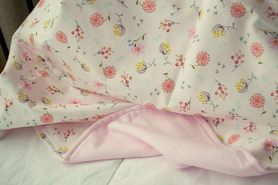 Hey, I found this really awesome Etsy listing at https://www.etsy.com/listing/156316258/flowery-pink-flannel-and-cotton-baby
