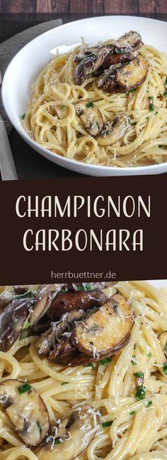Champignon Carbonara ... #zucchinipastarecipes