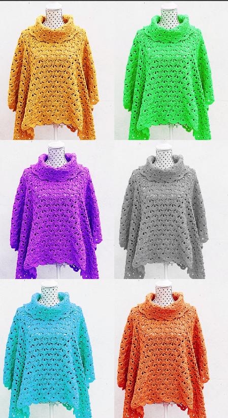Crochet Fast And Easy Poncho Puntadas Pinterest Crochet
