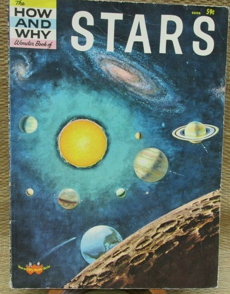 The How And Why Wonder Book of Stars Educational Vintage