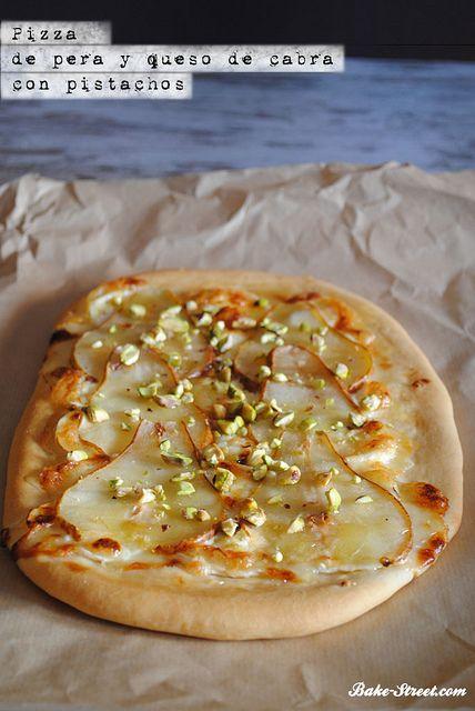 Pizza De Pera Queso De Cabra Y Pistachos Queso De Cabra Pizza