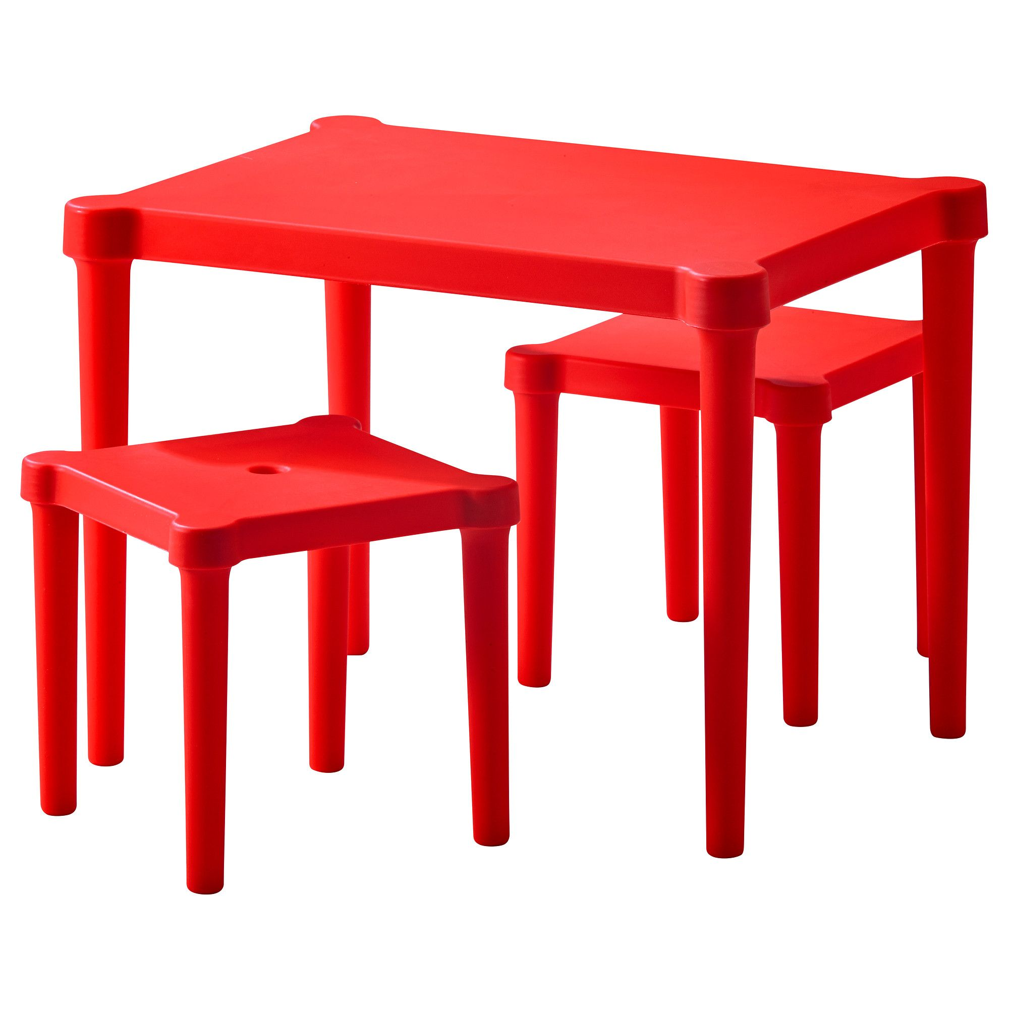 Ikea kids table and chairs - Love This Red Children S Table With 2 Stools From Ikea Perfect To Tuck Under His