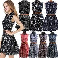 Wish | Lady's Fashion Plus Size Sleeveless Sweet v neck Summer Dress