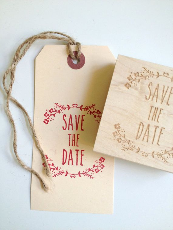 Save The Date Stamp Custom Stamps For DIY Bride Set Of 2