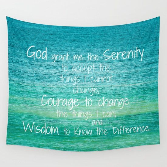 serenity prayer wall hanging serenity prayer tapestry teal tapestry aa recovery sobriety teal bedroom decor christian wall decor tapestries are available in