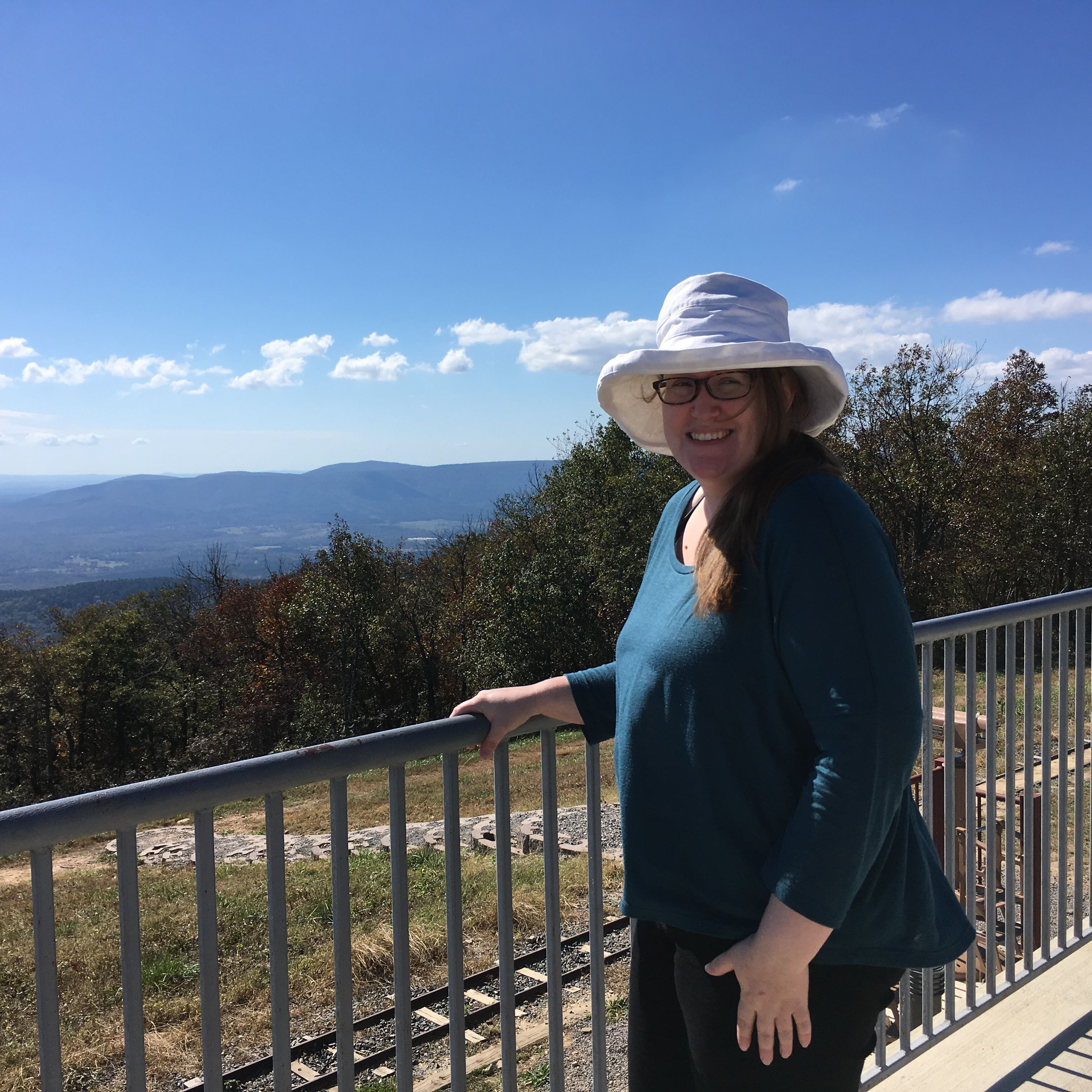 Looking out over Arkansas from the tallest point in the