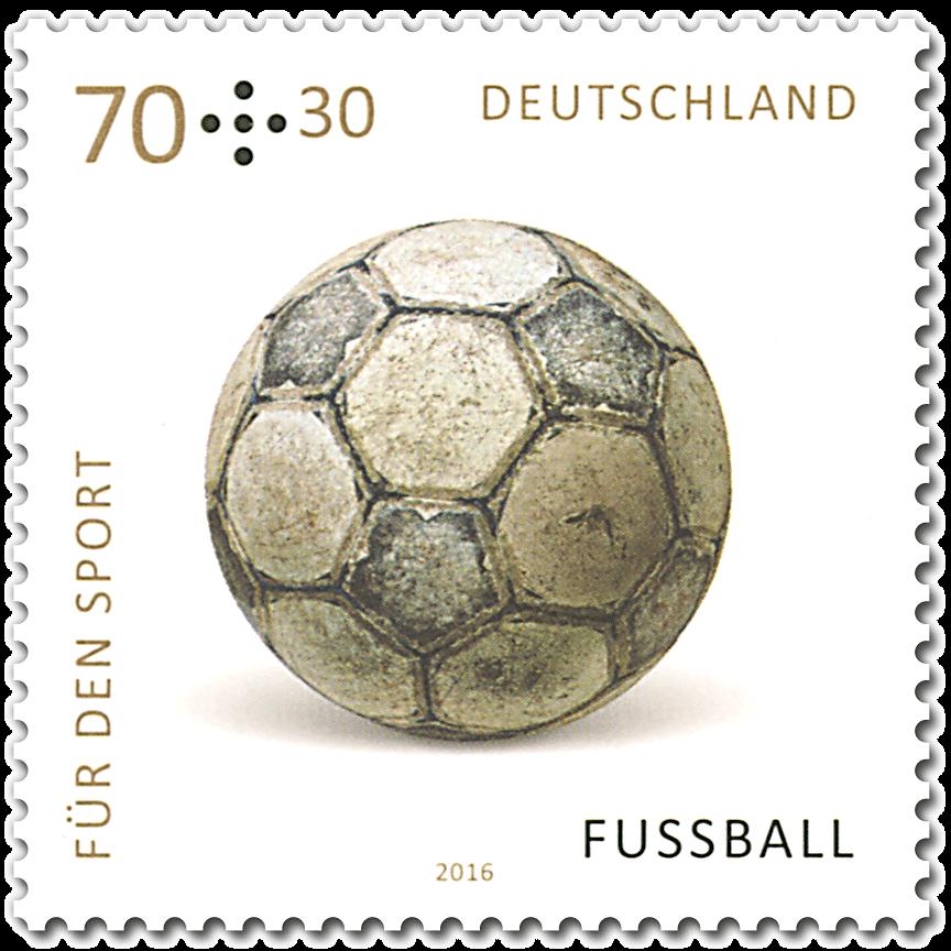 Briefmarken 2016 Deutschland Für den Sport Fussball in