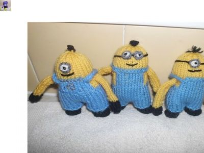 Despicable Me Minion Knitting Pattern Blue Sunflower Misi Handmade