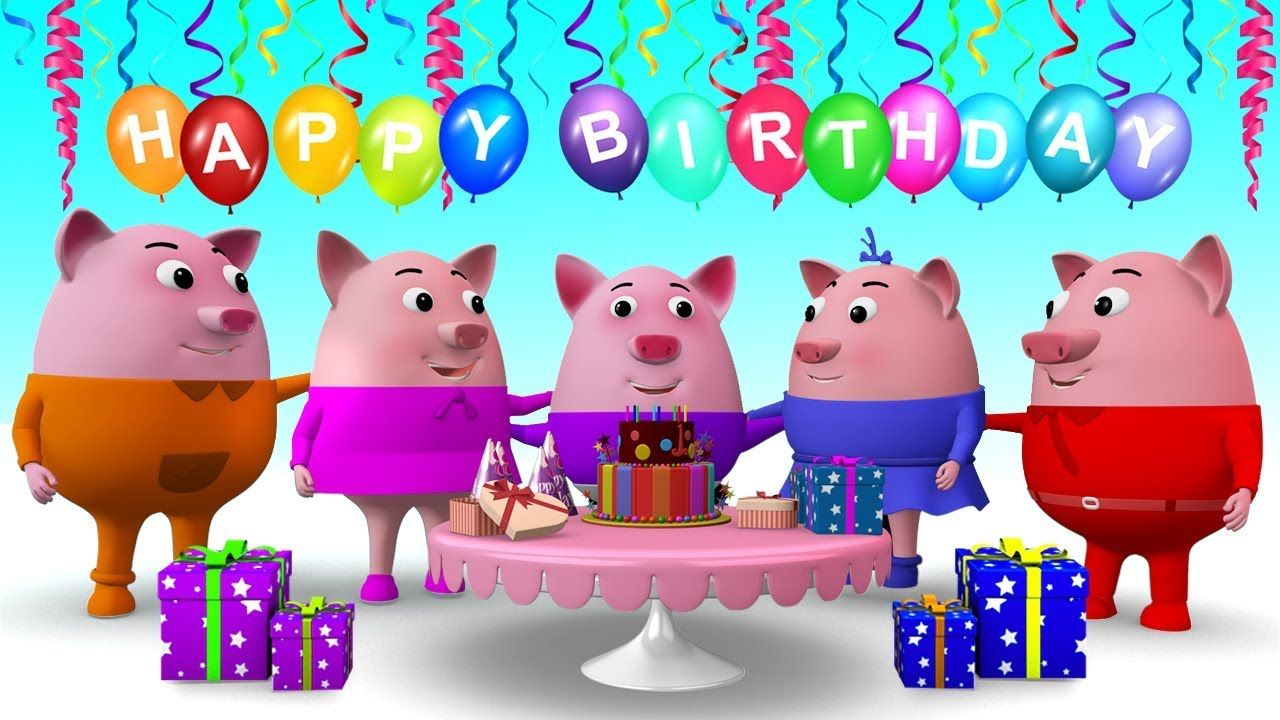 Happy Birthday Song - 3D Cartoon Nursery Rhymes & Songs for