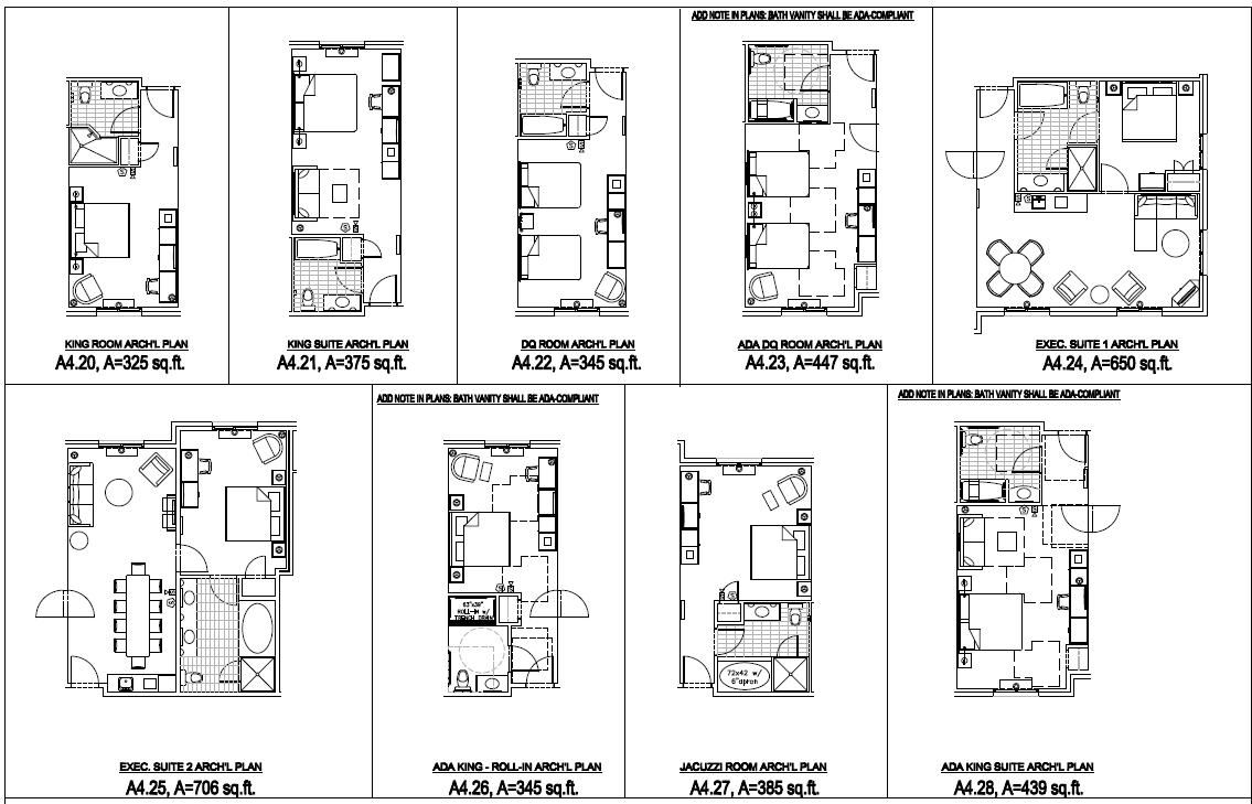 Ada Hotel Room Floorplan