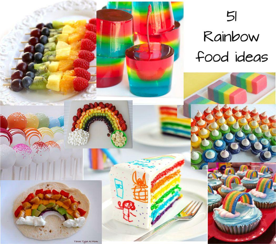 51 Rainbow Food Ideas for St Patricks Day or Rainbow Theme Party