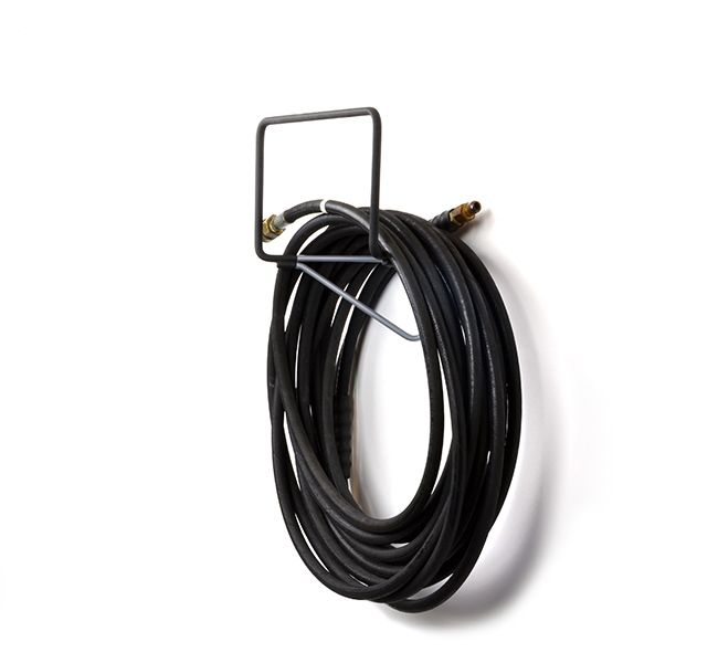 The Hose Hook Is Ideal For Garden Hoses, Central Vac Hoses And Ladders.  Features Heavy Duty Construction And Soft Black Protective Covers. | TAG  Hardware