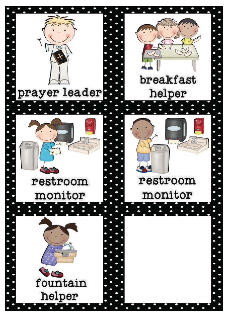 Mrs Lirette S Learning Detectives Classroom Helpers Set Free Classroom Helpers Preschool Classroom Jobs Classroom Helper Chart