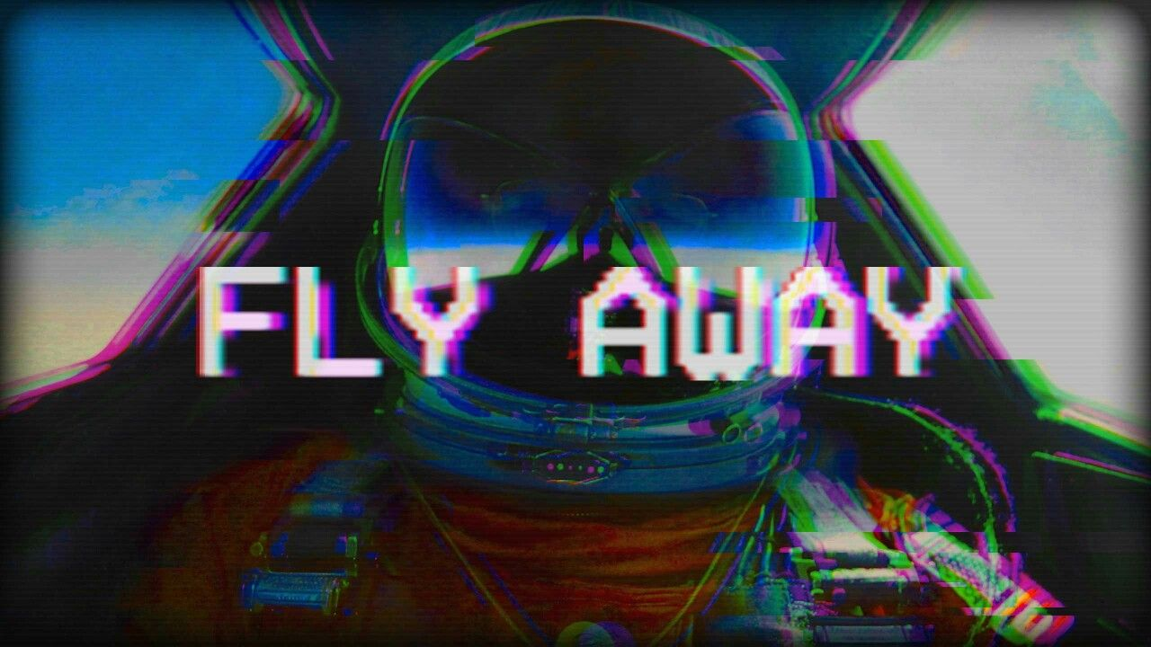 This gif has everything glitch pixel art graphic design vaporwave - Fly Away Vaporwave