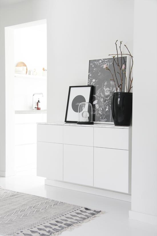 Scandinavian Interior   Hallway. Use IKEA Veddinge Kitchen Wall Cabinets.