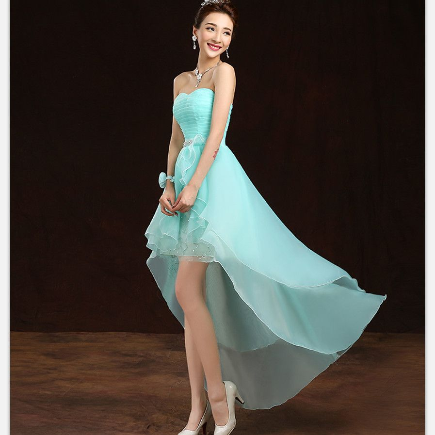 Find more information about high low bridesmaid dresses blue blush dresses georgette on sale at reasonable prices buy high low bridesmaid dresses blush pink lavender short front long back straplesss cheap prom party gown ombrellifo Images