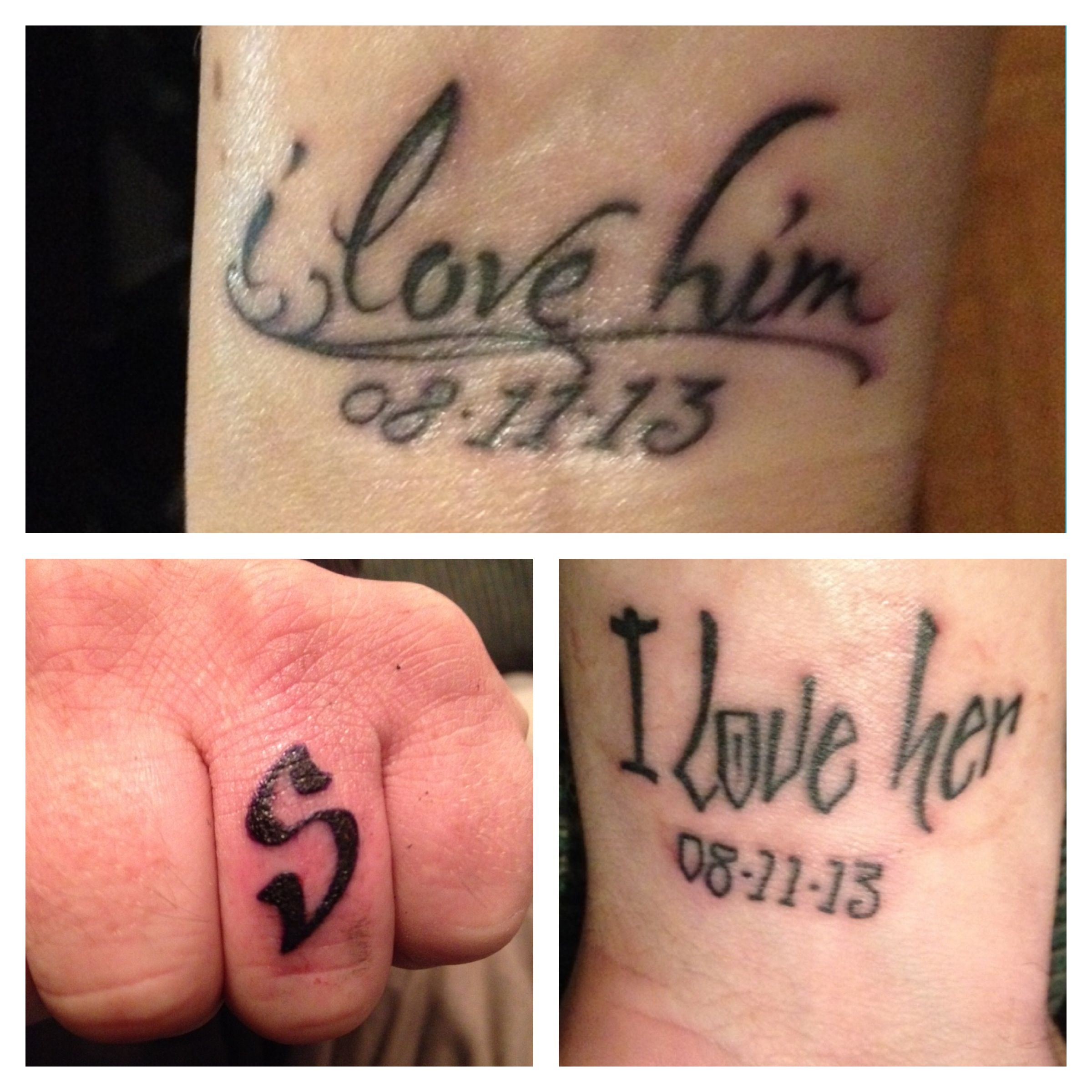 Wedding tattoos, wrists and ring finger