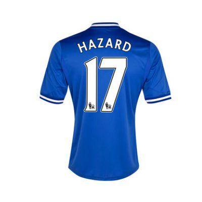various colors 3cbc1 c531c 13-14 Chelsea #17 Hazard Blue Home Soccer Jersey Shirt ...