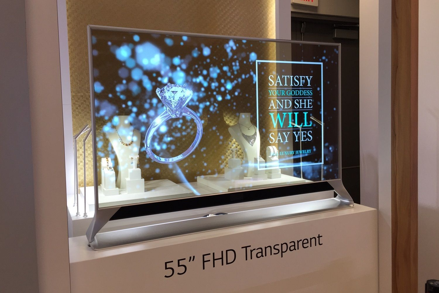 Lg S Futuristic Screens Are Rollable Transparent And Transparent Screen Transparent Tv Digital Signage