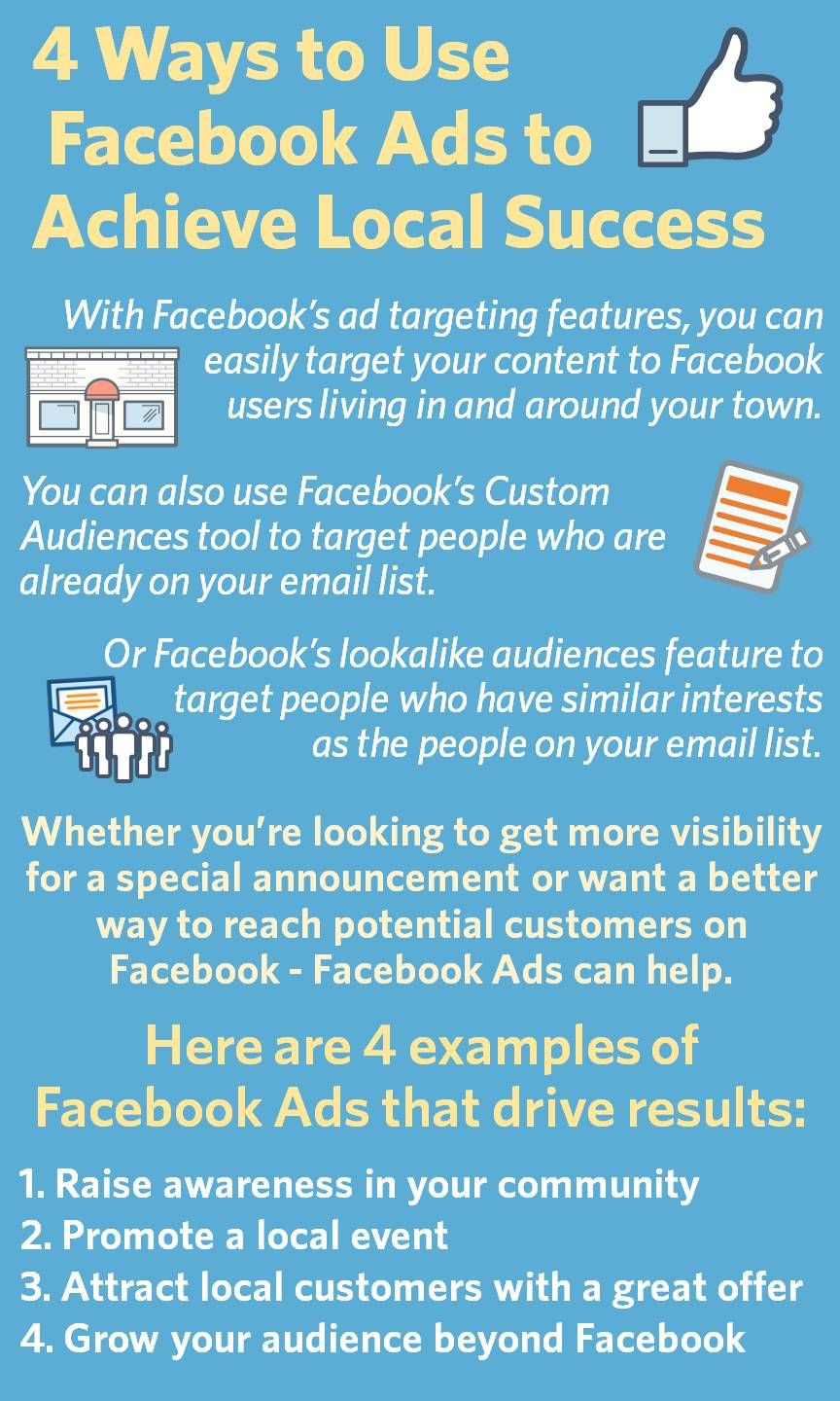 4 Ways To Use Facebook Ads To Achieve Local Success With Images