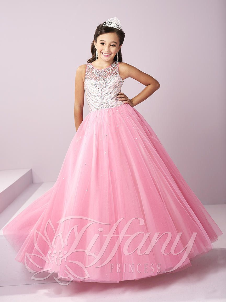 Tiffany Princess 13484 Party Pink Beaded Little Girl Pageant Dress ...