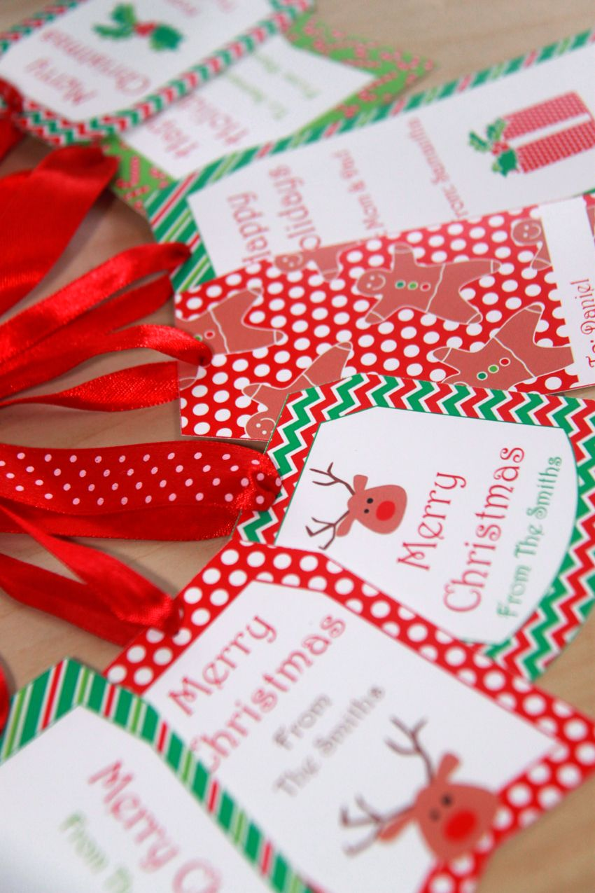 Christmas Gift Tags - Personalized Christmas Tags - Editable ...