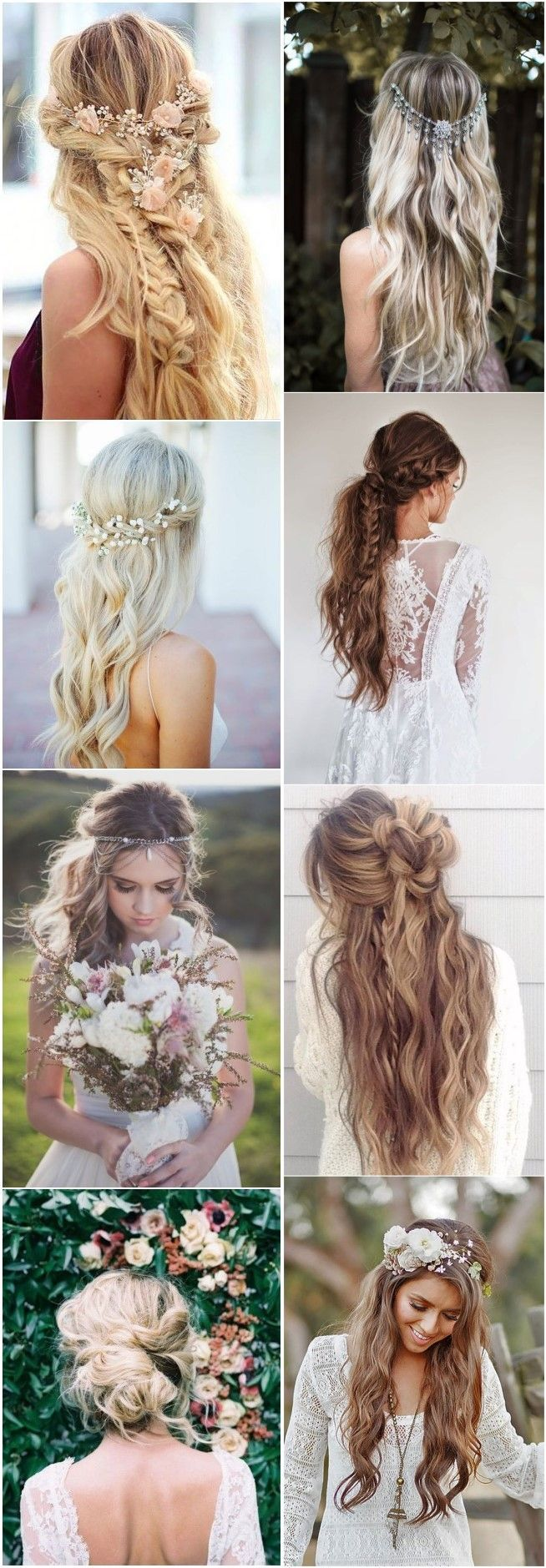 boho inspired unique and creative wedding hairstyles wedding