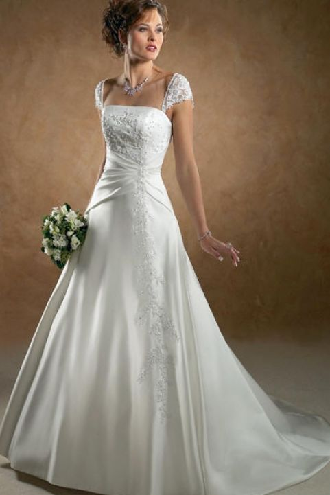 Best Style For Large Bust Wedding Dress Pictures 4