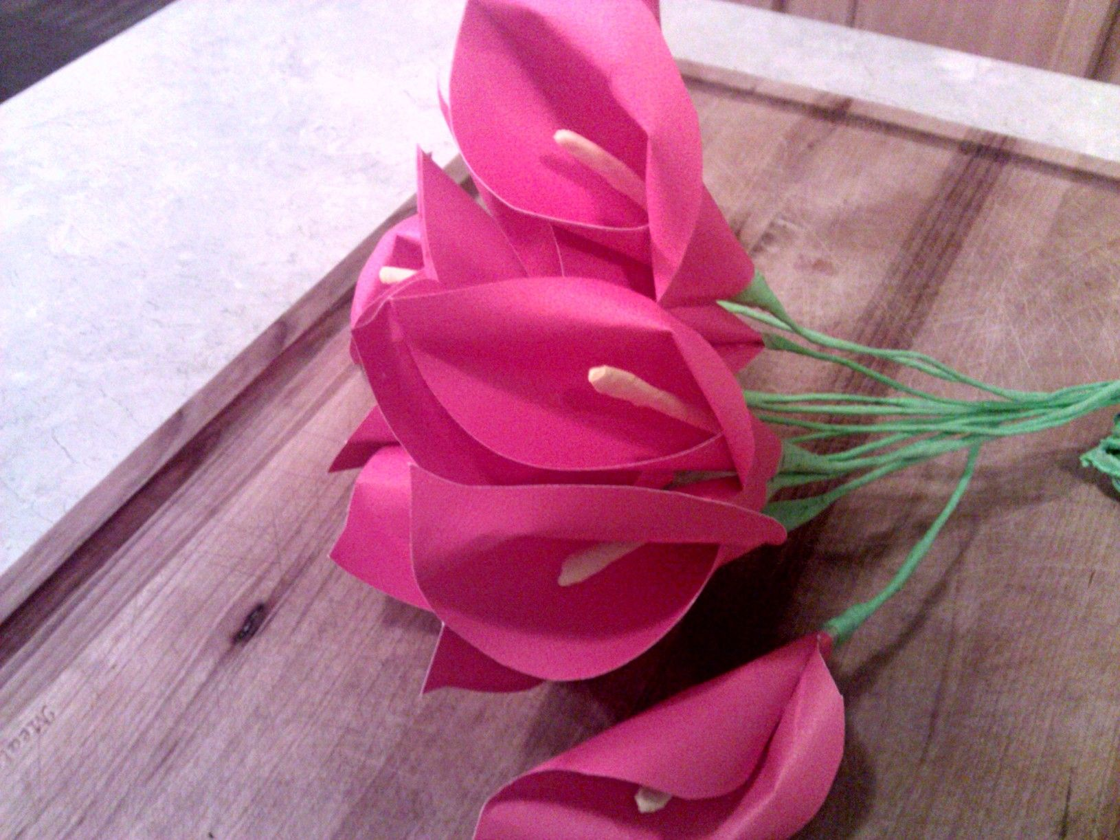 Calla Lily Paper Flowers | Calla lilies, Flowers and Construction paper for How To Make Paper Roses With Construction Paper Step By Step  54lyp