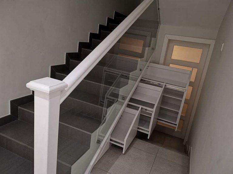 Eaw Construction On Instagram استغل المساحات في منزلك تحت السلالم بخزائن ذكية ورائعة لحفظ اغراضك للطلب اخذ المقاسات تواصل معنا الان Decor Home Stairs
