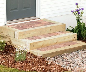 Best How To Install Timber And Brick Steps Brick Steps 400 x 300
