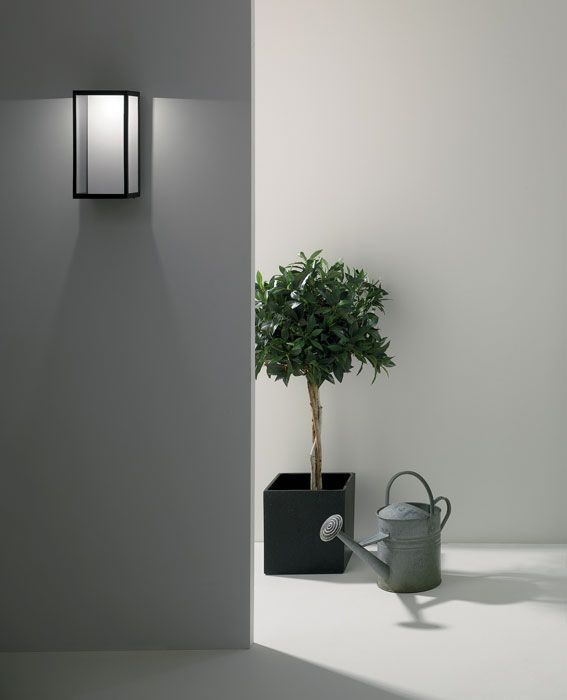 Puzzle LED Wall Light IP44 in Textured Black and Clear Diffuser inc 4.2W 3000K LED, Astro 1199001