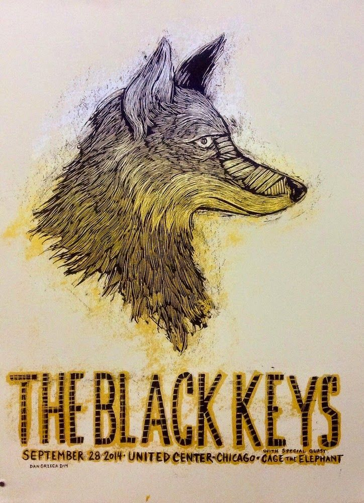 Black Keys Chicago Posters by Dan Grzeca