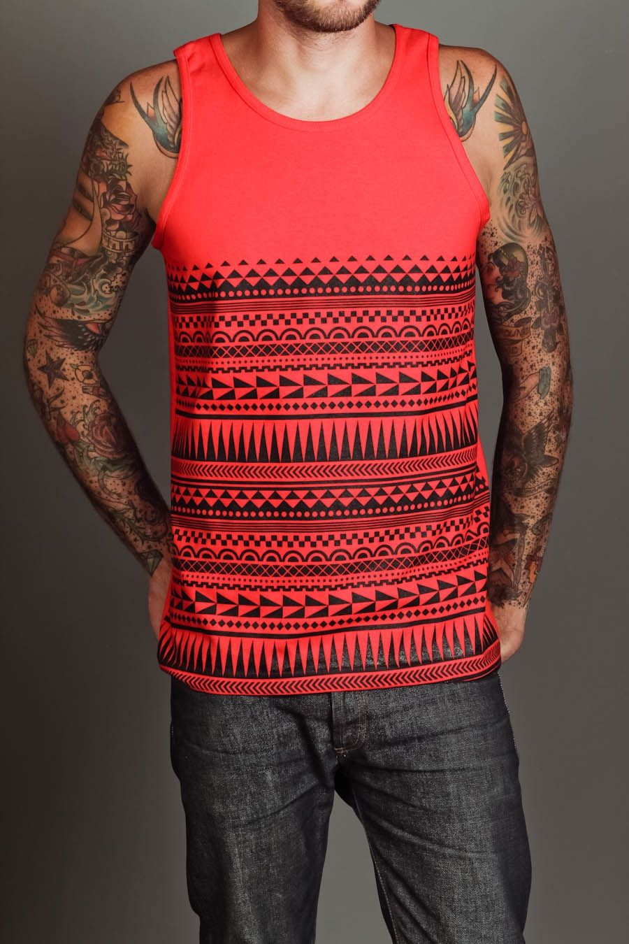 LTD Tees The Tribal Tank Red/Black $9 (With images ...