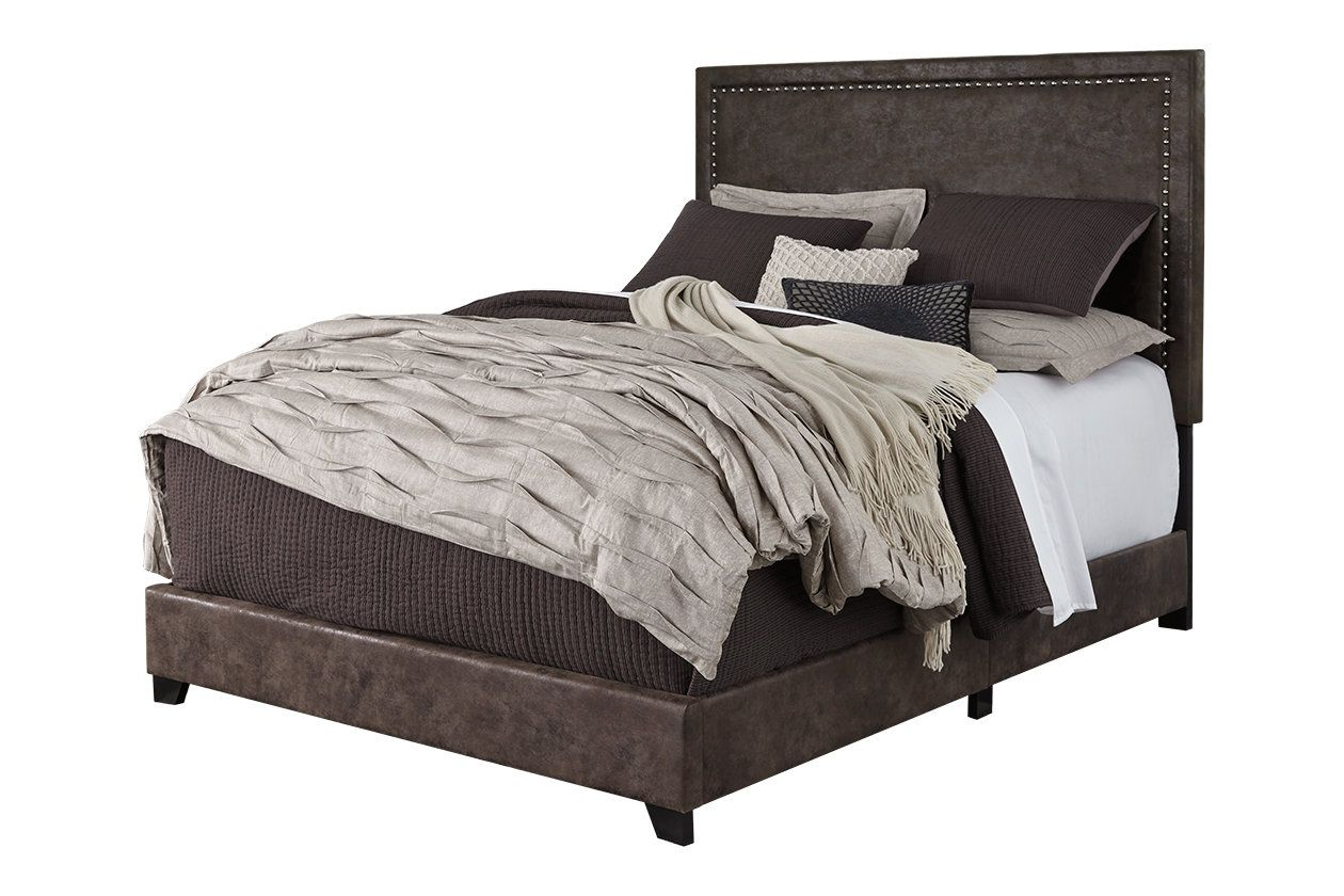 """Best Dolante Queen Upholstered Bed With 10"""" Hybrid Mattress In 640 x 480"""