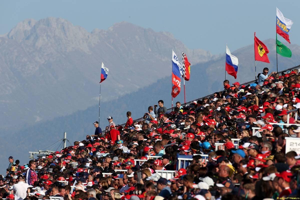 Grandstands 12.10.2014. Formula 1 World Championship, Rd 16, Russian Grand Prix, Sochi Autodrom, Sochi, Russia, Race Day.