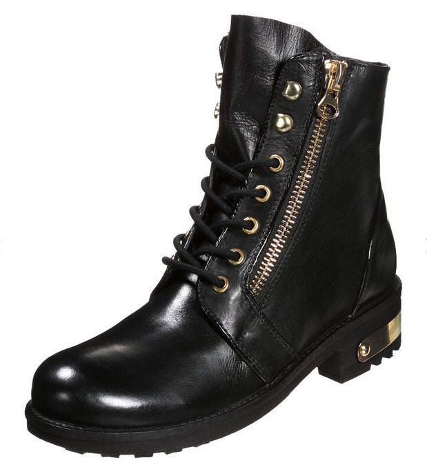 Bottines femme Zalando, promo chaussures ELLE, achat ELLE SABLONS Bottines  à lacets noir prix