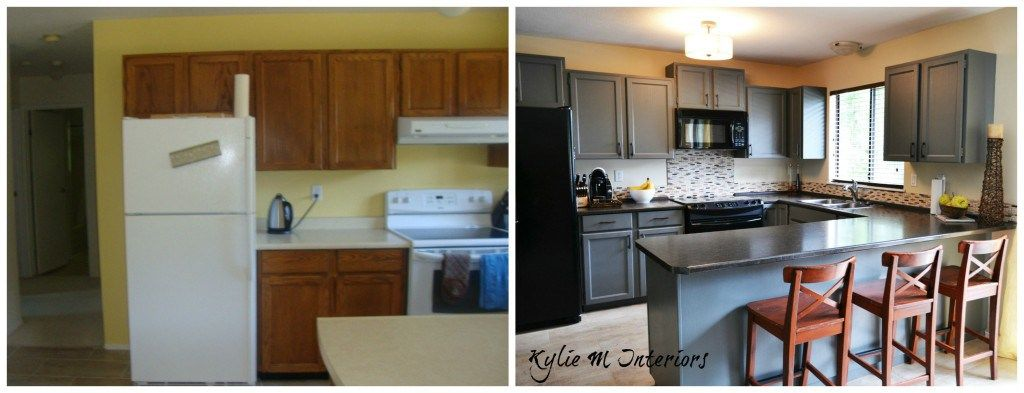 4 Ideas How To Update Oak Wood Cabinets For The Home Painting Kitchen Cabinets Rona
