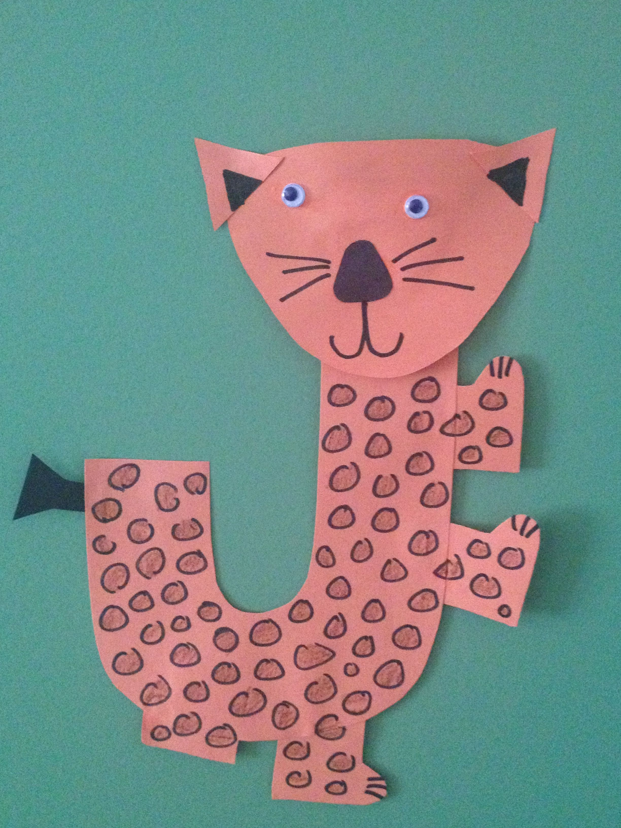 Letter J Craft Jumping Jaguar