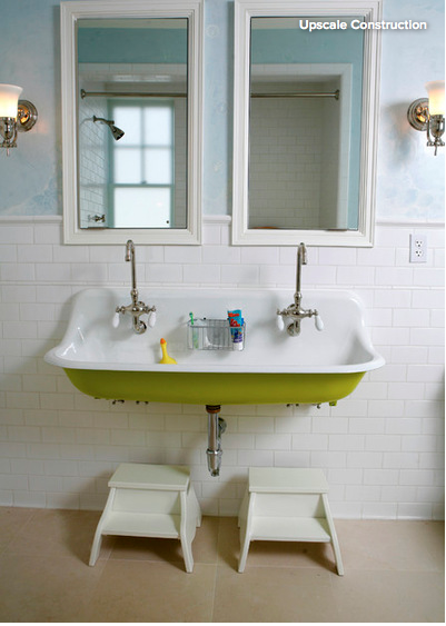 Tiny Bathroom solutionsWall mounted sinks Traditional