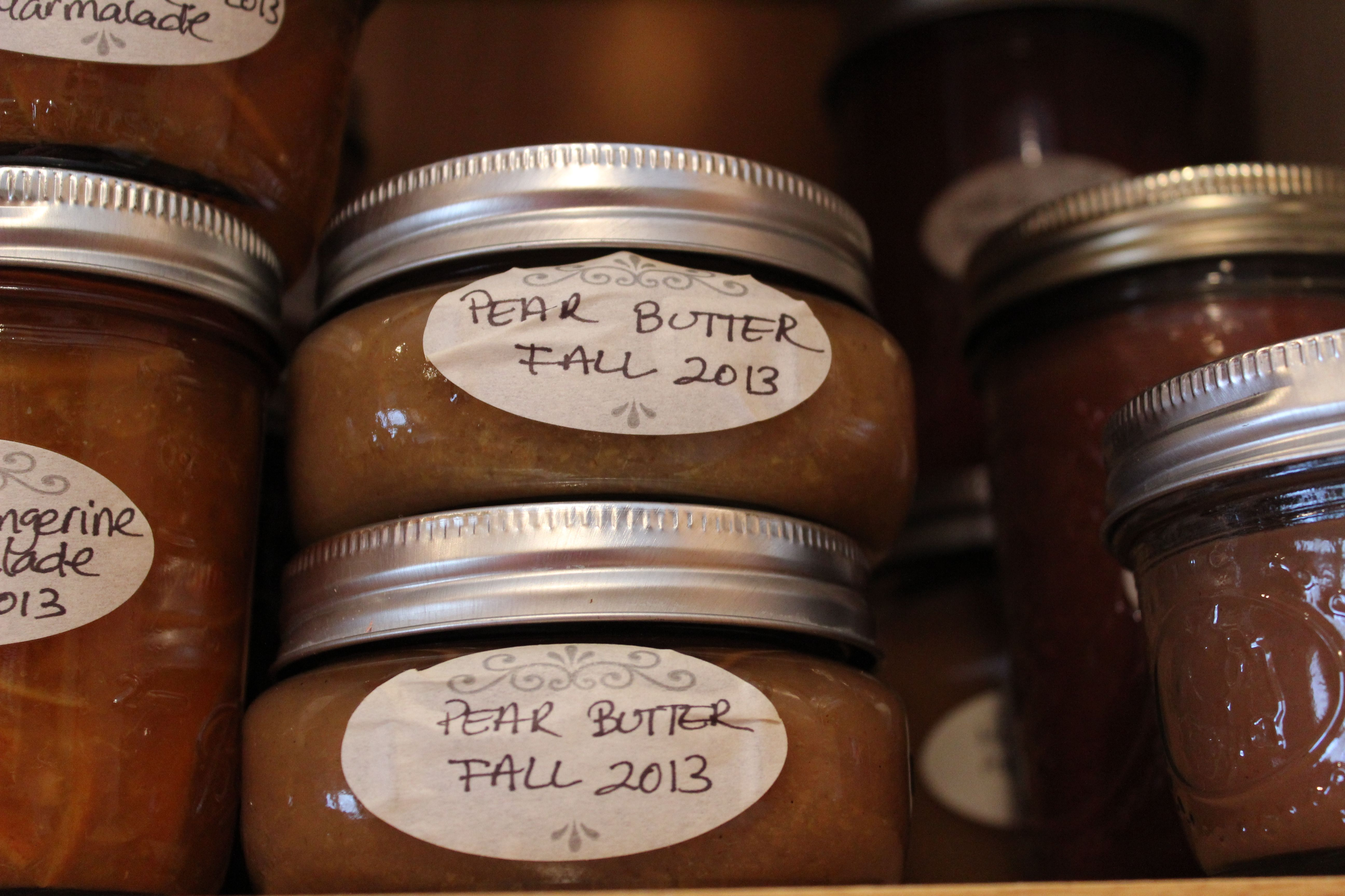 Pics from the 2013 Fall Pantry. I missed canning this year! Maybe I still have time...prepared by Chef Laura Anhalt. Photo by Laura Anhalt