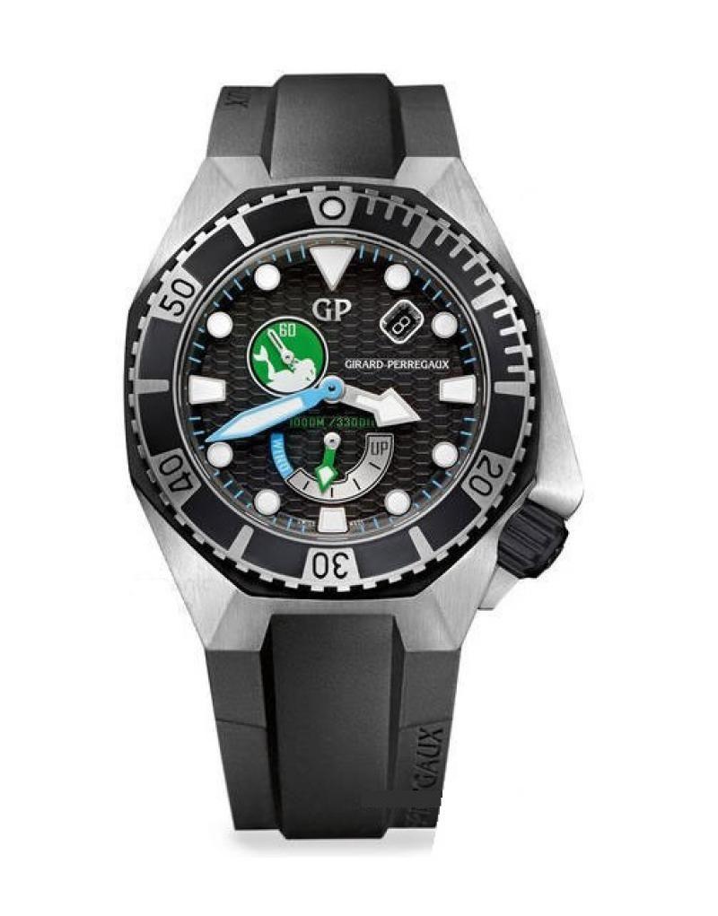 Girard Perregaux 49960-19-1219SFK6A Sea Hawk Diving Watches - швейцарские мужские часы наручные, стальные, черные