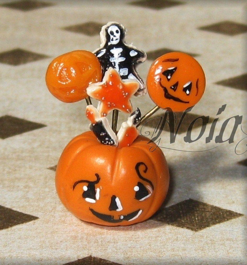 Tutorial Portapiruletas calabaza de halloween Dollhouse