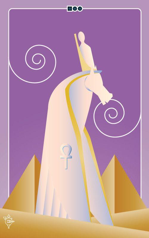 Noo Spinoolean Tarot - Knight of Ankhs