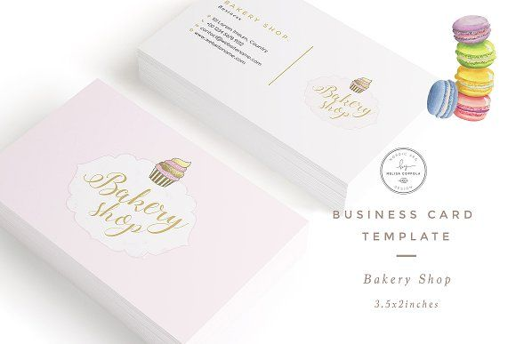 Bakery Shop Business Card Template At Creativework247 Business Cards