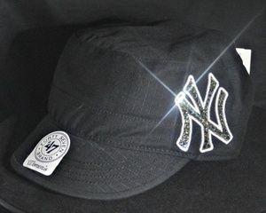 785a6163a7e New York Yankees Swarovski Crystal Rhinestone Bling Military Cadet Hat.  www.babywantsbling.com